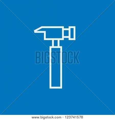 Hammer line icon.