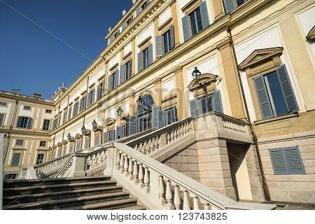 Monza (Brianza Lombardy italy): facade of the historic royal palace