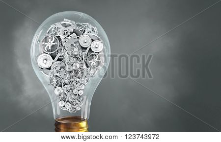 Electric bulb with gear wheels