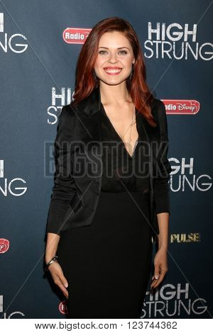 LOS ANGELES - MAR 29:  Anna Trebunskaya at the High Strung Premeire at the TCL Chinese 6 Theaters on March 29, 2016 in Los Angeles, CA