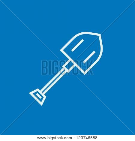 Shovel line icon.