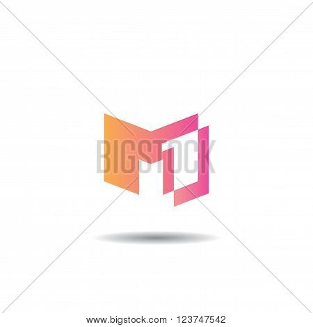 M1 vector template for using as logo
