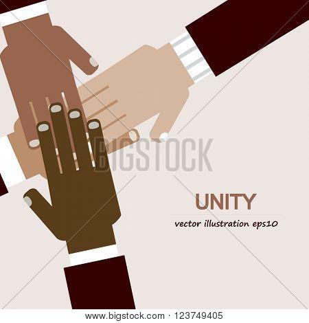 hands diverse unity background
