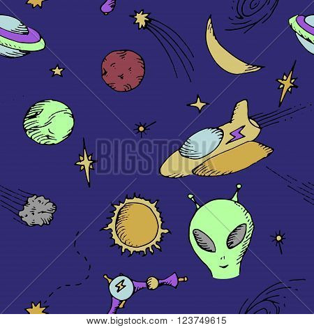 Colorful background. Hand drawn vector stock illustration