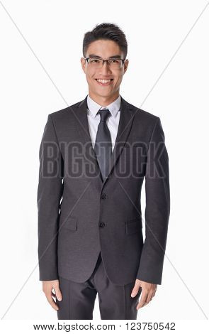 picture of a elegant young man looking at the camera
