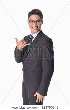 young businessman. Vertical shot.