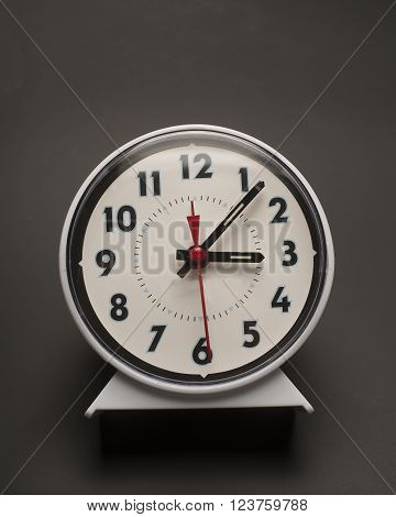 Old fashioned wind up clock used for waking up