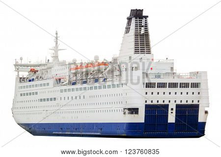 Cruise ship isolated