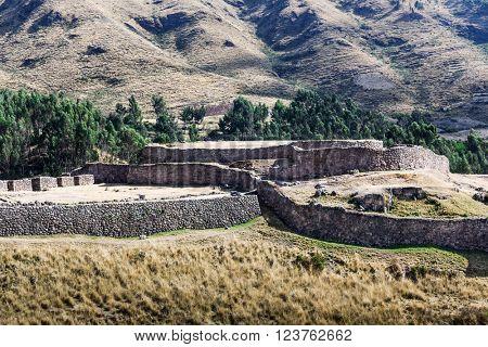 inca ruins of a watchtower guard