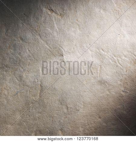Vintage aged old paper. Original background or texture. Close up