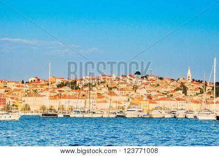 Town of Mali Losinj on the Island of Losinj, Croatia, waterfront, summer day