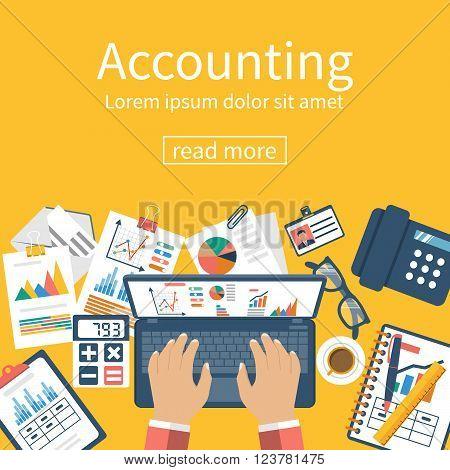 Accounting Concept. Organization Process.