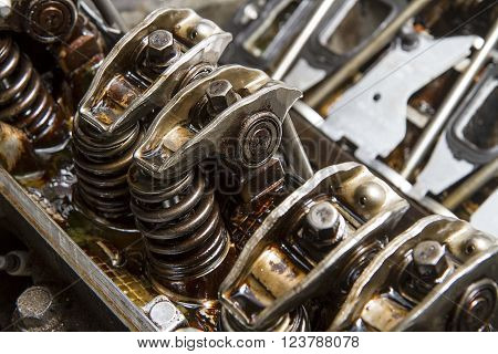 Repair of an automotive engine in process