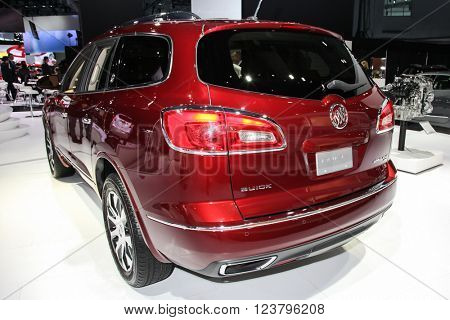 NEW YORK - MArch 23: A Buick Enclave at the 2016 New York International Auto Show during Press day,  public show is running from March 25th through April 3, 2016 in New York, NY.