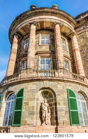 KASSEL, GERMANY - OCTOBER 2: Neoclassical palace on October 2, 2014 in Kassel, Germany