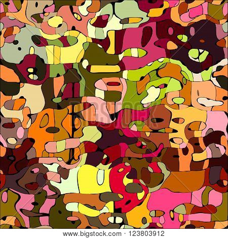 Abstract color mosaic animals vector pattern background