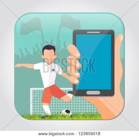 football poster for the app icon and illustration