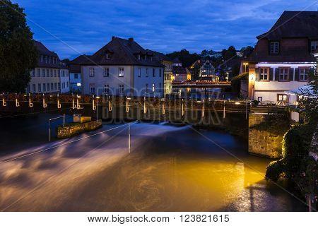 Old Town in Bamberg. Bamberg Bavaria Germany.