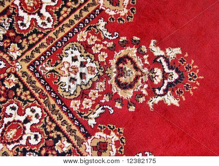 detail of colorful persian rug