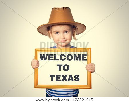 Text Welcome To Texas.