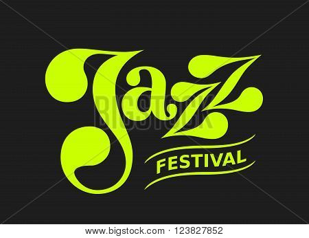 Vector Jazz flyer on black background. Eps8. RGB. Global colors. Gradients free