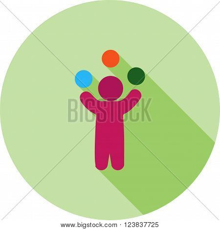 Juggling, juggler, balls icon vector image. Can also be used for outdoor fun. Suitable for use on web apps, mobile apps and print media.