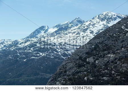 The White Pass and Yukon Route near Skagway, Alaska
