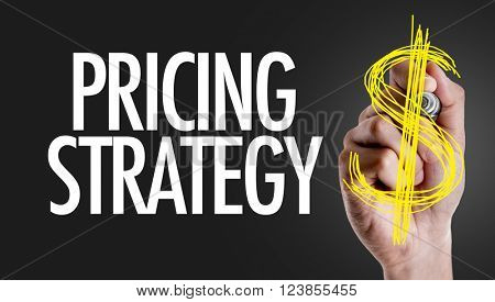 Hand writing the text: Pricing Strategy