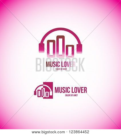 Vector company logo icon element template music volume abstract sound