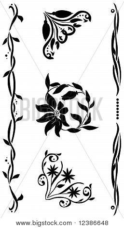 Decorative corner  renaissance style set for yor design poster