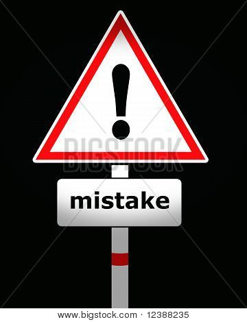 mistake sign