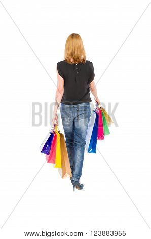 Shopping Woman View From Behind