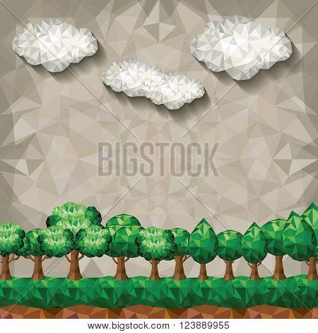 forest landscape design, vector illustration eps10 graphic