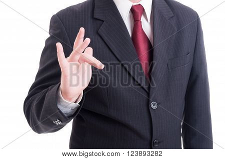 Businessman Or Accountant Making Obscene And Insulting Gesture