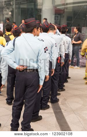 Security Guard In Mock Disaster Drill