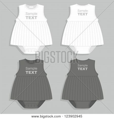 Baby bodysuit New born baby bodysuit. vector illustration