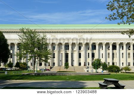 New York State Education Department Building was built in 1912 with Beaux-Arts style in downtown Albany, New York State, USA. This building was listed as a National Historic Places in 1971.