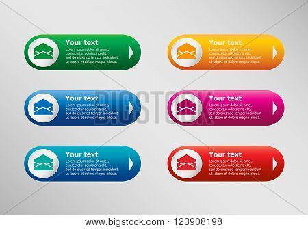 Open Envelope Icon And Infographic Design Template, Business Concept.