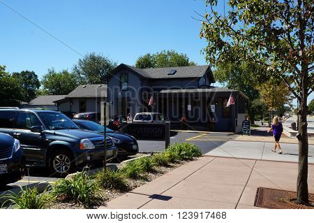 PLAINFIELD, ILLINOIS / UNITED STATES - SEPTEMBER 20, 2015: The Sovereign Restaurant is a popular