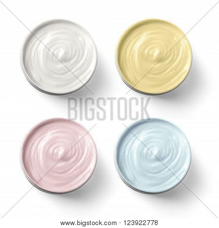 Set Of 4 Different Cosmetics Cream