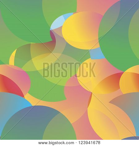 Oval colored geometric shapes patern. Seamless patern.