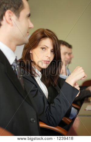 Female Lawyer In Conference