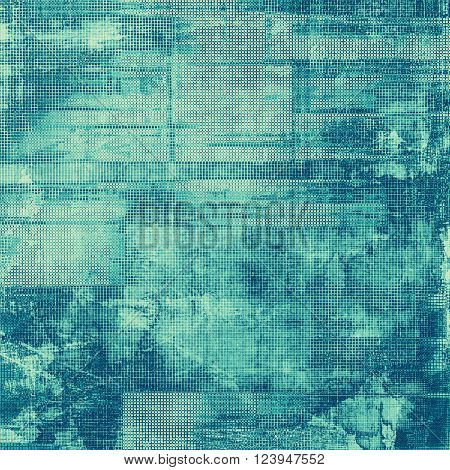 Traditional grunge background, scratched texture with vintage style design and different color patterns: blue; gray; cyan