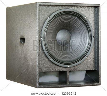 loudspeaker on white background