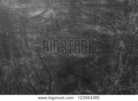 Background Pattern Black Dirty and Dusty Chalkboard Background or Texture with Copy Space for Text Decorated.
