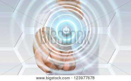 Businessman Power Button