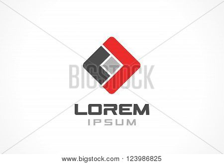 Icon design element. Abstract logo idea for business company.  Finance, communication, technology and connection concepts. Pictogram for corporate identity template. Stock Illustration Vector