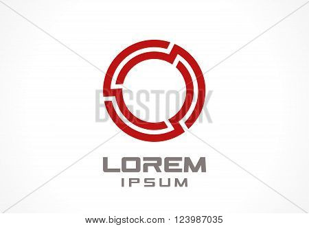 Icon design element. Abstract logo idea for business company.  Finance, communication, technology, network and lock concepts. Pictogram for corporate identity template. Stock Illustration Vector