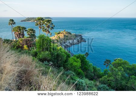 View of Promthep Cape - best view point Phuket island, Thailand