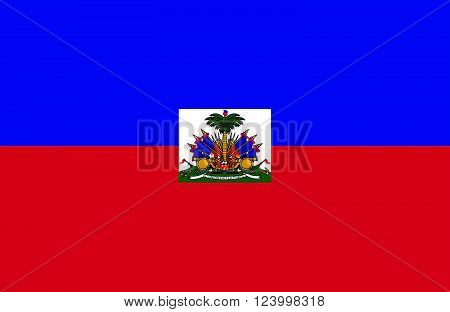 Nice drawing of amazing horizontal Haitian flag.